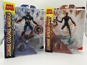 Marvel Select Zombie Colonel Captain America And Spiderman Action Figures Lot Of 2