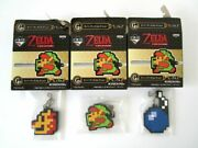Rare Legend Of Zelda Key Cover Chain Set Lot 3 Lottery Prize From Japan Nintendo
