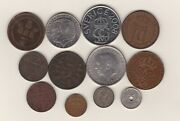 12 Norway And Sweden Coins 1876 To 2008 In Good Fine Or Better Condition.