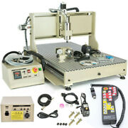 1.5kw 4 Axis Router 6090 Cnc Engraver Woodworking Milling Carving Machine + Rc