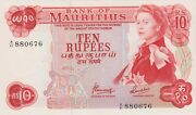 P31c Mauritius Ten Rupee Banknote In Mint Condition Issued In 1967 Signature 4.