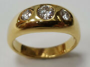 Womenand039s Ring From 585 Gold With Diamonds Order No. 2680br