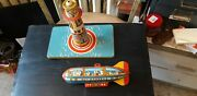 Vintage Unique Art Tin Litho Sky Rangers Wind-up Toy For Parts Or Repir As Shown