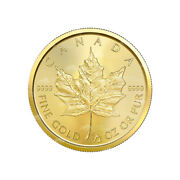 1/2 Oz 2021 Canadian Maple Leaf Gold Coin