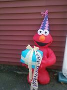 Elmo Airblown Inflatable Happy Birthday Sesame Street Inflatable 4 Foot Tall