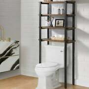 Carbon Loft Lawrence 65-inch Over The Toilet 4-shelf Bath Brown