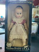 Vintage Gerber, 17 Baby Doll 1979 White Gingham 50th Anniversary, Rolling Eyes