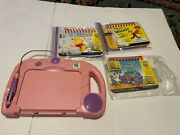 Leap Frog My First Leap Pad Learning System Pink With 3 Books And Cartridges