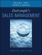 Dalrymple's Sales Management, Hardcover By Cron, William L. Decarlo, Thomas ...
