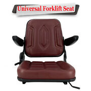 Universal Forklift Seat Waterproof Pvc Tractor Seat For Atv Lawn Mower Wine Red