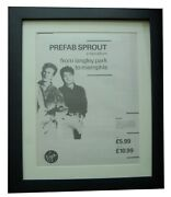 Prefab Sprout+langley To Memphis+poster+ad+original 1988+framed+fast+global Ship