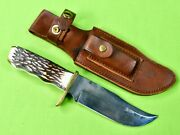 Vintage Us Schrade Uncle Henry 171uh Hunting Knife And Sheath