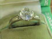 Vintage Sterling Silver Art Deco Flapper 1920's Paste Engagment Wedding Ring