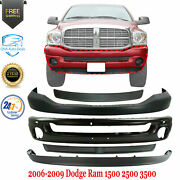 Front Bumper + Upper And Lower Cover + Molding For 2006-2009 Ram 1500 2500 3500