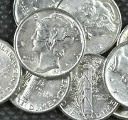 [lot Of 10] Mercury Dimes 1916-1945 90 Silver Choose How Many Lots Of 10 Coins