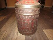 Antique Ellisco G.r.c.o. Gulf Refining Co. Embossed Oil Gas Can
