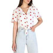 Womenand039s Cropped Shirt Top In Polka Dot White And Red