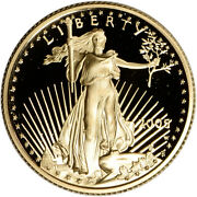 2005-w American Gold Eagle Proof 1/4 Oz 10 - Coin In Capsule