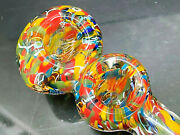 4.5 Collectible Double Chamber Thick Glass Handmade Tobacco Smoking Hand Pipes