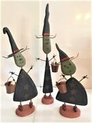 Primitives By Kathy Halloween Decor -- Witches Three Gang Set Of 3 36.95