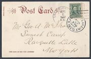 Us 1907 Lake Pleasant Ny Dpo Discontinued Post Office On Post Card Of Lake Repai