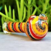 5 Gobblin Dichro Glass Hand Pipe Collectible Tobacco Smoking Herb Bowl