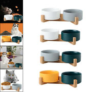 Ceramics Double Bowl Non-slip 2 Pack Small Dog Or Cat Food And Water Dishes