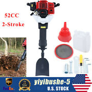 52cc 2-stroke Gas Powered Hole Ground Drill Planting Shovel Drilling Machine