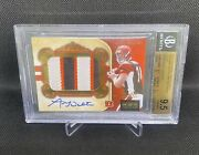 2011 National Treasures Andy Dalton Rc Rpa Rookie Patch Auto /49 Bgs 9.5 Lowpop