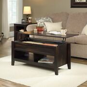 Lift-top Coffee Table Hidden Compartment And Storage Char Pine Finish Home New