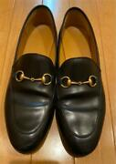 Loafer Black Leather With Horse Bit Notation Size 41