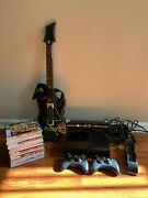 Xbox 360 With Kinect W/ 13 Games And Guitar Hero W/ Guitar And Wireless Charger