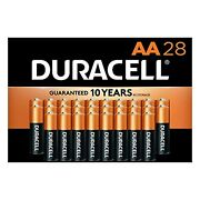 Duracell Coppertop Aa Alkaline Batteries 28 Count Long Lasting Double A Battery