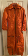 Vintage 1960and039s Usaf Coverall Flying Mens Orange Small/short Flight Suit