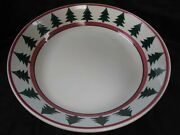 Pier 1 Italy Christmas Tree Oand039tannenbaum Pasta Serving Bowl 12 Hand Painted
