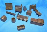 Marx Western Town Playset Jail Side Furniture And More Vintage