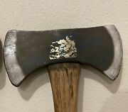Collins Homestead Double Bit Axe With Original Blue Paint And Label