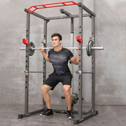Power Cage Squat Rack Stands Gym Equipment 1000-pound Capacity Exercise Olympicandmiddot