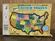 Vintage United States Map Puzzle 1961 Milton Bradley 4264 Made In The Usa 2 Maps
