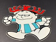 Punchy The Hawaiiain Punch Guy Metal Die-cut 12 Advertising Character Sign