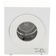 White Compact Electric Dryer 2.6 Cu. Ft. Wall-mountable Design Space-saving