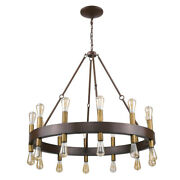 Acclaim Lighting In11386 Cumberland 24 Light 42w Ring Chandelier - Faux Wood