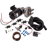 New Electric Vacuum Pump Kit Mounting Hardware For Brake Booster 12 Volt 18 -22