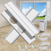 Gulrear Dual Hose Portable Air Conditioner Window Kit, Window Seal Plates For Ac