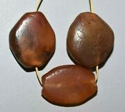 Antique Carnelian Agate Tabular Diamond Stone Beads Traded From India To Africa