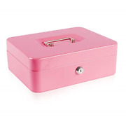 Large Metal Cash Box With Money Tray And Lockmoney Box With Cash Tray