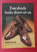 1969 Mansfield Shoes By Bostonian - They Only Look Expensive. Color Ad
