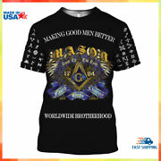 Masonic Symbols 3d All Over Printed Clothes T Shirt Unisex Best For Gifts