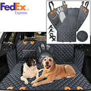 Car Rear Back Mat Pet Travel Cat Dogs Cushion Protector W/ Middle Seat Armrest