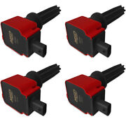 Msd Ignition Coil 4pk Fits Ford Eco-boost 2.0l/2.3l Red 82594